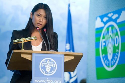 Anggun berpidato di forum PBB sebagai duta pangan dunia
